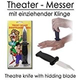 Couteau de théâtre avec lame disparait - dague d'effet