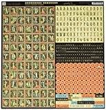 Couture papier cartonné 12 « X 12 »-Alphabet autocollants & Mots