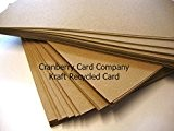 Cranberry Card Company Lot de 25 cartes et enveloppes en papier/carton Kraft Format A5