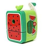 Crayon Taille Manuel Adorable Pour Enfant Fourniture Ecole Couleurs Assorties Style de Fruit Vert Pastèque
