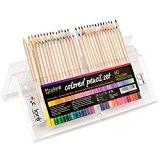 Crayons de couleur - Ensemble de crayons de couleur primes et pré-taillés pour le coloriage et le dessin- Gomme et ...