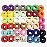 CurtzyTM 42 Bobines de Fil en Coton Coloré pour Crochet- 3444 Mètres- Crochet et Dentelle
