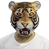 Cusfull Masque de Déguisement en Latex Tête de Tigre pour Halloween Noël