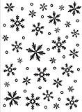 Darice 1215-58 Modèle Flocons de Neige Classeur de Gaufrage Plastique Transparent 10,8 x 14,6 x 0,3 cm