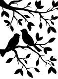 Darice 1219-102 Modèle Oiseaux sur la Branche Classeur de Gaufrage Plastique Transparent 10,8 x 14,6 x 0,3 cm