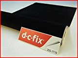 DC Fix en velours Contact Papier feutre en velours Film Autocollants en vinyle 2m x 45, 45cm x 45cm noir