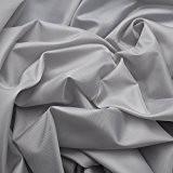 Déco Taffetas / Tissu Universel - léger & souple - au mètre (gris argenté)