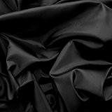 Déco Taffetas / Tissu Universel - léger & souple - au mètre (noir)