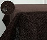 Deconovo Nappe Tissu Exterieur Rectangulaire Anti-tâche Imperméable de Salle 148x240 cm Marron Chocolat