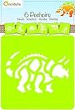 Décopatch - 42449MD - Avenue Mandarine - Set De 6 Pochoirs Enfants - Dinosaures