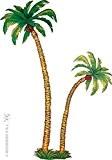 Decor palmier carton - set de 2 pces 180 cm et 116 cm