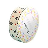 Decoratif Tape - TOOGOO(R)DIY Satin Dentelle Decoratif Tape Washi Tissu Autocollants Masquage beige bleu