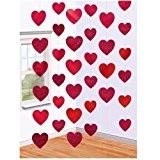 Décoration Saint Valentin Coeur Rouge Suspendu x 6