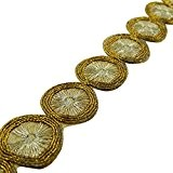 Decorative Craft bordure dorée Sari Border Cut-Work Ribbon 1.7 cm de large par The Yard