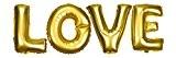 DEKOREX ® LOVE Ballon gonflable Guirlande de lettres et brillants feuille de ballons de 40cm ballon d'hélium Décoration or