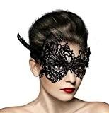 Demarkt Masque de Mascarade Fête pour Femmes Sexy Dentelle Noir Soiree Masques