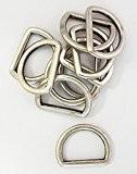 Demi-anneaux/anneaux en argent 15 mm-lot de 10