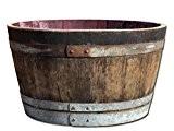Demi tonneau de vin en bois de chêne - rustique - D 70cm H 40cm (sans extras)