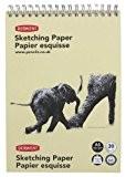Derwent Cahier à spirale A5Portrait Sketch Pad, dos, 30feuilles de papier de Croquis 165g/m² sans acide Sketch Pad A5 Portrait