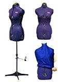 Deubl Schneiderpuppen Prymadonna Mannequin de couture Buste féminin 8pièces entièrement réglable avec support 4 pieds (pliable et réglable en hauteur) ...
