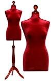 Deubl Schneiderpuppen - «Rubin» - Buste de couturière féminin avec trépied en bois couleur cerisier - Réglable en hauteur - ...