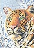 Diamond painting-diamant/broderie peinture diamant motif tigre 18 x 25 cm