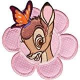 Disney Bambi W/papillon en fleurs sur tissu Applique -