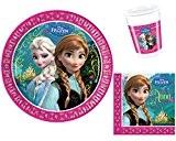 Disney - Frozen Reine des Neiges - Kit Vaisselle jetable Anniversaire pour 8 enfants