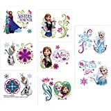 "Disney Frozen Temporary Tattoo Birthday Party Favour and Prize Giveaway (16 Pack), Multi Color, 2"" x 1 3/4""."