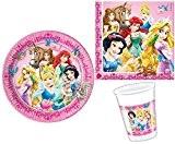 Disney - Princesses Disney - Kit Vaisselle jetable Anniversaire pour 8 enfants