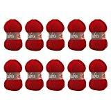 Distrifil - 10 pelotes de laine à tricoter Distrifil RUBIS 0156 pas cher 100% acrylique - 1463.0156