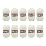 Distrifil - 10 pelotes de laine à tricoter Distrifil RUBIS 0211 pas cher 100% acrylique - 1463.0211