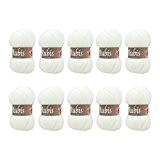 Distrifil - 10 pelotes de laine à tricoter Distrifil RUBIS 0501 pas cher 100% acrylique - 1463.0501
