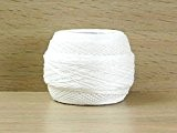 DMC Écossais Cebelia Crochet Coton Fil Taille 10Blanc-par balle 50g