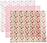 Dritz Lot de 3morceaux de tissu étanche pour couche Motif papillons et cupcakes 53,3 x 61cm