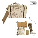 E-Goal 50Pcs/Pack Mini valise mariage favor Candy Box pour décoration de mariage