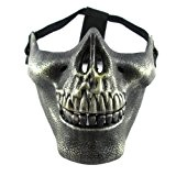 E-map party favors mask - Masque Protection Demi Visage Soldat Paintball Airsoft Squelette Militaire Crâne Tête de Mort - Bronze ...