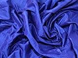 écrasé texturé Shot Robe de taffetas Tissu Bleu roi-au mètre