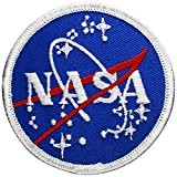 Écusson brodé Ecussons Thermocollants Broderie Sur Vetement Ecusson ,,NASA Meatball 7,5cm ,, nasa