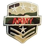 "ecusson patch badge appliqué thermocollant brode militaire a coudre ecusson thermocollant "" ARMY7,2 x 6 cm """
