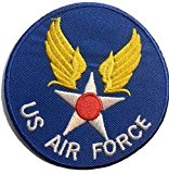 "ecusson patch badge appliqué thermocollant brode militaire a coudre ecusson thermocollant ""US Air Force7,5 cm"""