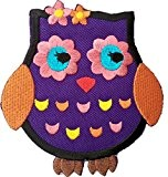 "ecusson patch badge applique thermocollant enfant bebe femme fille ecusson thermocollant ""Hibou 9 x 7 cm"""