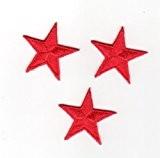 Ecusson thermocollant 3 Petites Etoiles Coloris Rouge