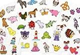 EDUPLAY Tatouages pour enfants école, multicolore