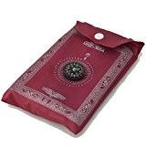 eioo® New portable Tapis de prière islamique avec boussole Qibla + Livret (fin Tapis de prière) Ramadan cadeau
