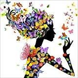 Eizur 5D Main en motif Diamant Peinture Femme aux Papillons Point De Croix Broderie Diamond Painting Kits mosaïque Salon Chambre ...