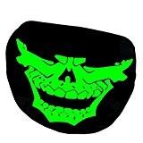 Eizur Lumineux Earloop Bouche Masque Coton Unisexe Crâne Squelette Anti-poussière Réfléchissant Chaud Créatif Bouche Visage Noir--Style 6