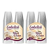Embellir cristal en plastique rigide transparent verre à Shot jetables Transparent 30 ml 30 ml., Plastique, 100 Pcs