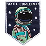 Embroidered patches Écusson thermocollant/à coudre Motif Astronaute