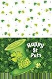 En plastique Lucky rayures St. Patrick de Jour nappe, 7m x 4,5m